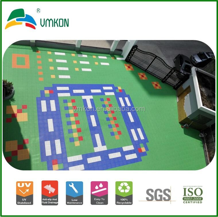 safety for kids food-grade pp materials hot sale vmkon suspended multi-sport game court flooring