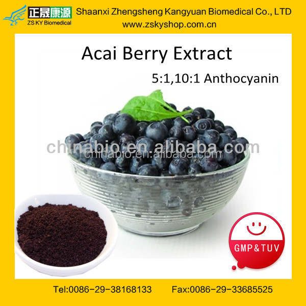 GMP manufacturer supply antioxidant keepling slim Natural Acai Berry Extract