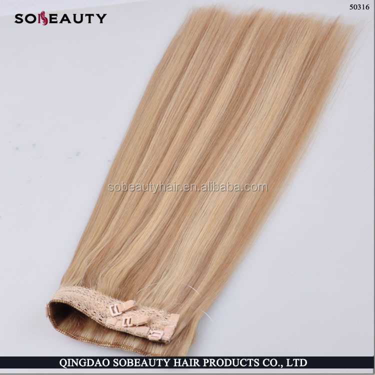wholesale alibaba high quality 100% human hiar double drawn unprocessed fish line hair extensions