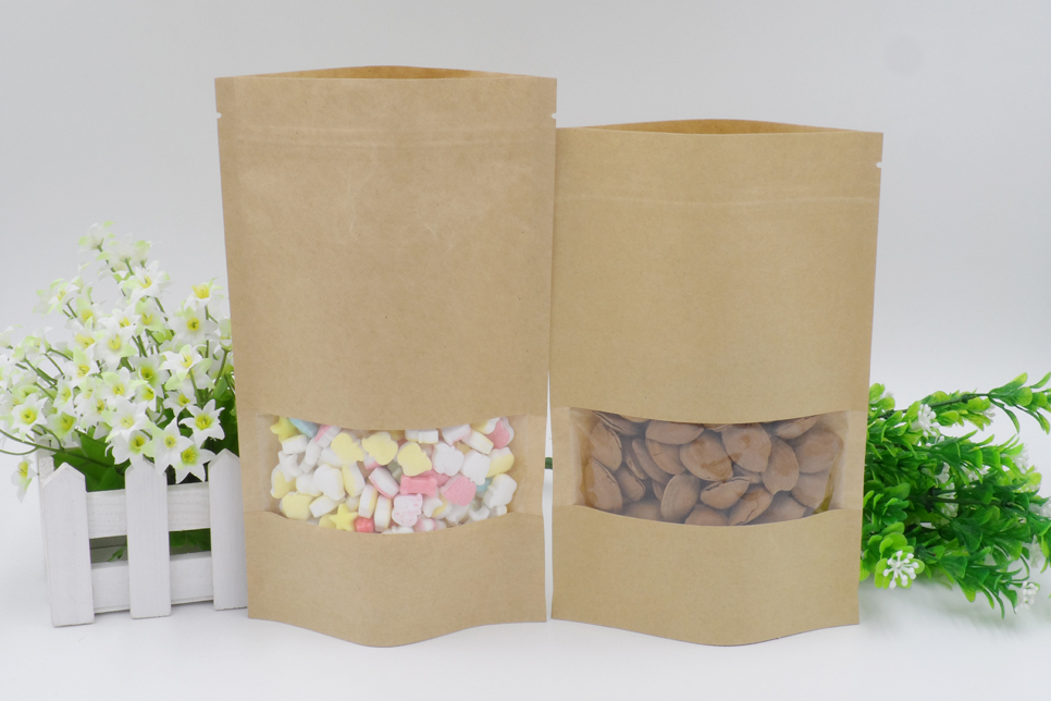 wholesale decorative foil lined paper food packaging bag