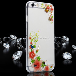 Hot Sell Plating Diamond Printing Mobile Phone Case For iPhone 5s