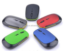 10m working distance ABS material colorful 2.4ghz wireless notebook optical mouse