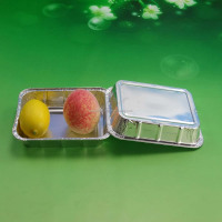 rectangle aluminium foil box food container bulk production