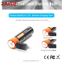 Rechargeable 3.7V 750mah 14500 Li-ion USB charge battery for controller