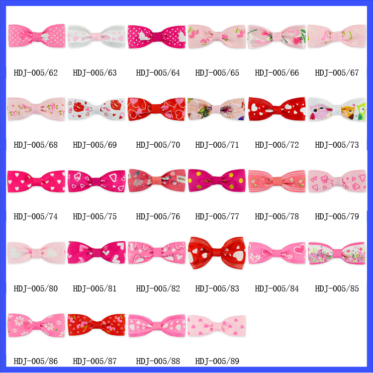 Newest Fancy Baby Bow Hair Clips Ribbon 2.8 Inch Valentine's Day Hair Bows With Clips Wholesale Baby Girls Hair Accessories