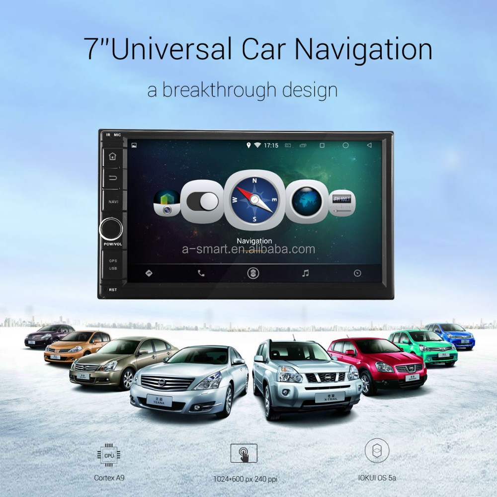 7'' Universal 6inch Digital Touch Screen 2Din Car DVD Player GPS Navigator SD USB RDS Radio SWC Bluetooth(W/O DVD)
