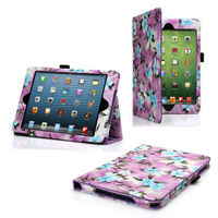 BEAUTIFUL SMART PURPLE PU LEATHER CASE COVER FOR APPLE IPAD MINI