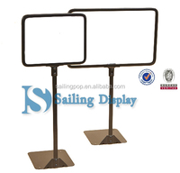 acrylic poster holder POP Display Holder/double pipe sign floor type POP stand