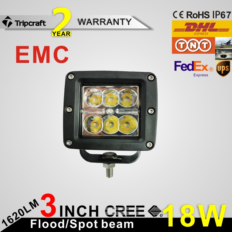 Hot sale 18W 4 inch EMC LED work light, EMC 18W LED working lights for offroad, LED work light with EMC function