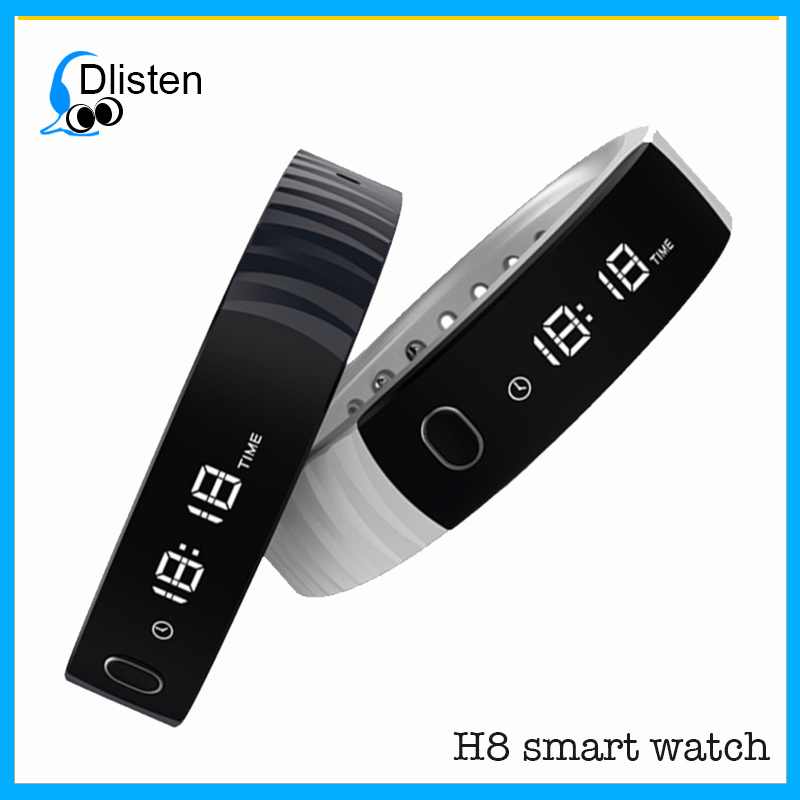 Hot sale in usa market new products 2018 h8 bIuetooth smart watch BT bracelet