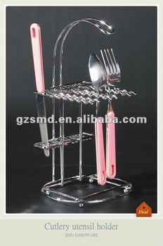 Restaurant cutlery scoop utensil holder