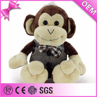 Custom stuffed animals plush monkey with clothes
