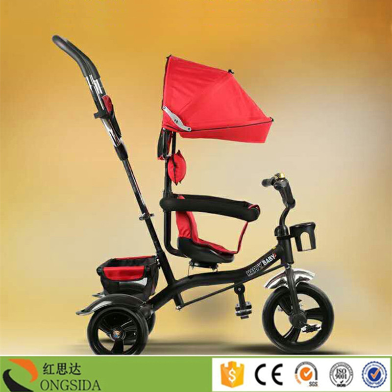 Three wheels 3 in 1 push baby tricycle with pedal/kids tricycle with umbrella