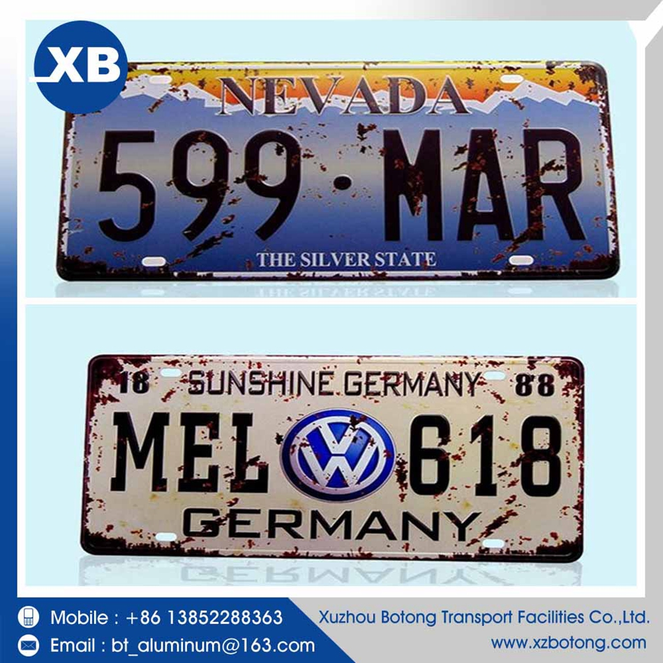 Chinese brand prices cast sublimation blank aluminum license plate