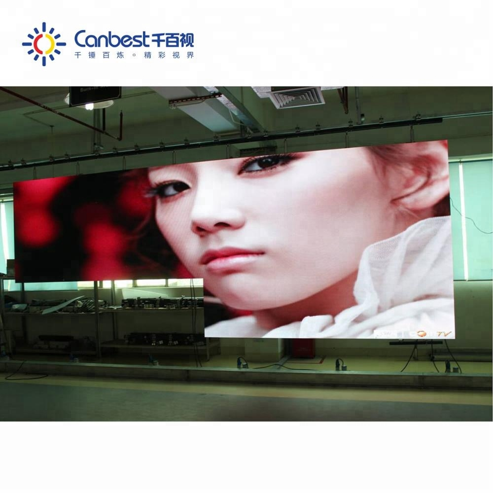 High resolution permanent install indoor china video p4 led display panel price