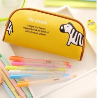 2016 new style PU Leather Pencil Case/Pencil Bag for Teenagers