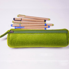 Alibaba best selling promotional zipper round felt pencil pouch/ pencil cases large capacity