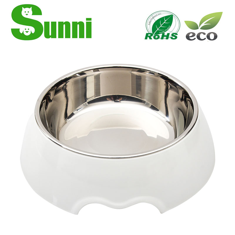PET fashion design dog food bowl stainless steel for sale