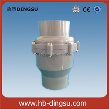 vertical horizontal plastic pvc pipe rubber tilting disc faucet check valve