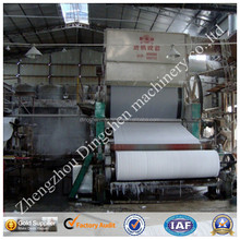 hot! straw paper machine ,tissue paper plant,toilet paper mill