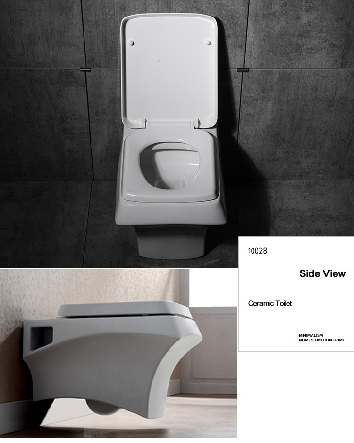 Contemporary high flush toilet