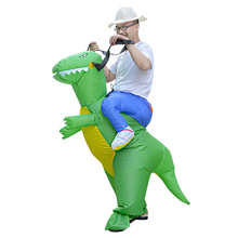 inflatable dinosaur costume funny halloween costumes green color dinosaur for adults