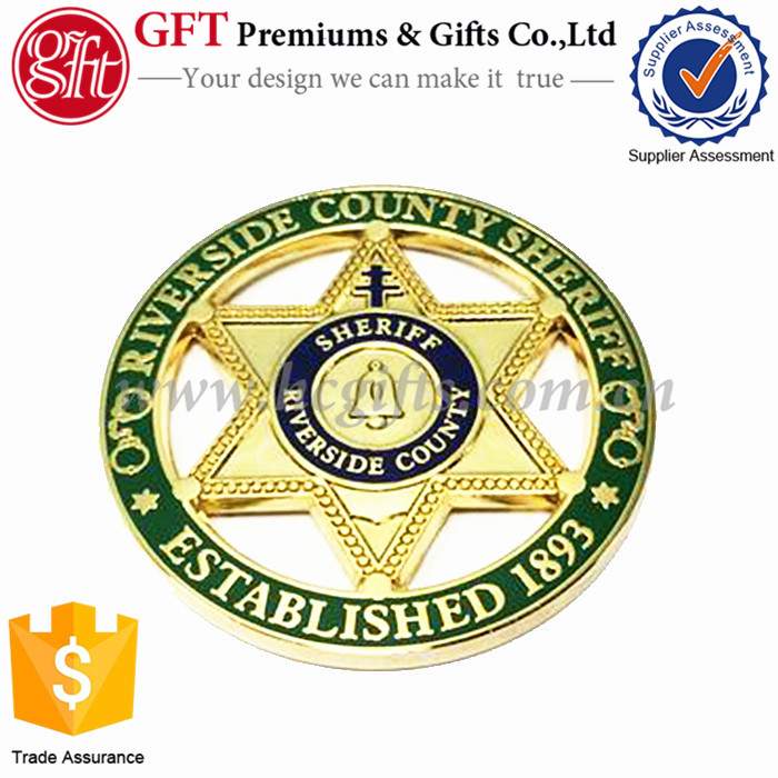 Free Making Artwork ! Riverside County Sheriff Gold Souvenir Coins