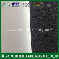 Plain weave woven polyester fusible interfacing