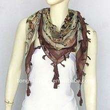 Islamic scarf/voile square scarf with tassels