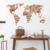 Hot sale modern removable world map stone brick pattern decor DIY large wall sticker home living room kidsroom wall decal