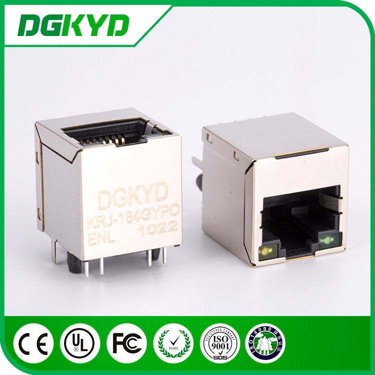 180 degree metal shielded Cat5 RJ 45 connectors with PoE