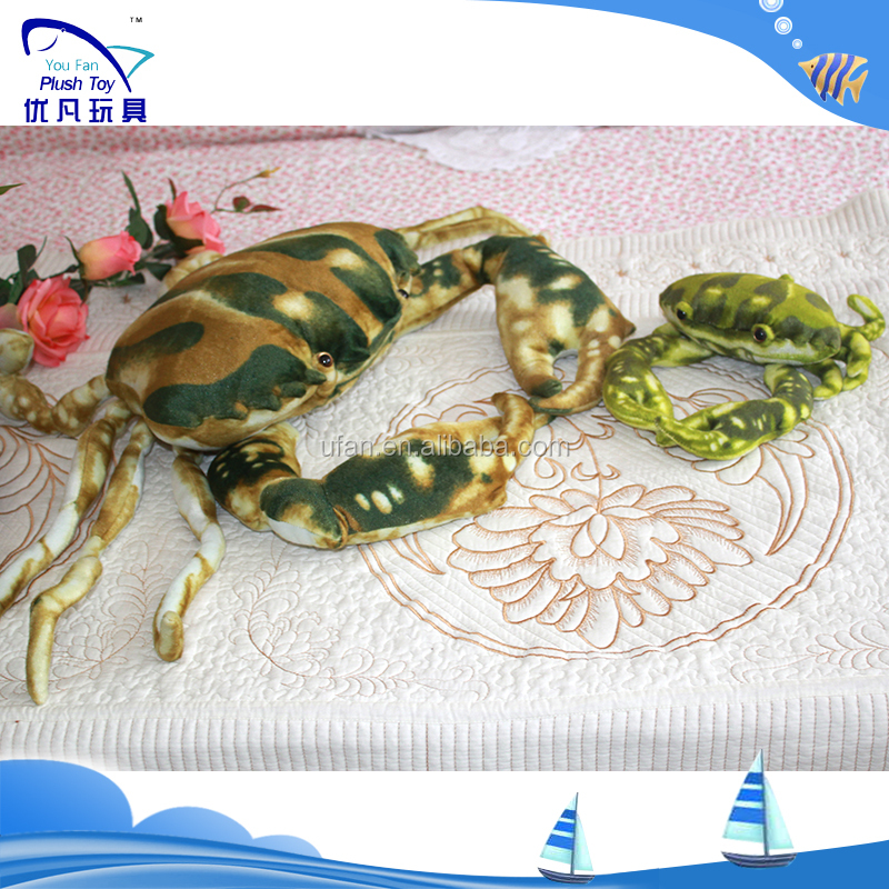 2017 Hot sale Marine animal plush toy stuffed crab toy animal factory sale