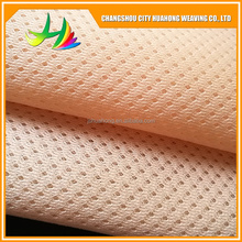Warp knitting polyester tricot micro 3d spacer sandwich mesh fabric for running shoes chair dress