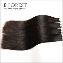 "PU Tape Hair Extension Top Skin Weft Natural Real Straight Hair 100g/pack 16""18""20""22""24"" With All Color"