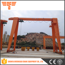2016 popular small mobile rubber tyre gantry crane