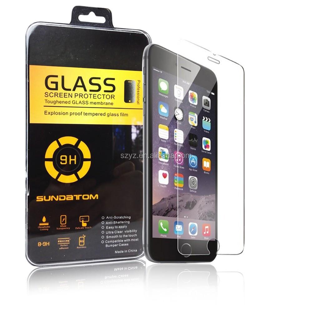 "9H LCD Premium Tempered Glass Screen Protector For Apple iPhone 6 6s 4.7"" / 6 Plus 5.5 inch / 5 5s 5c se / 4 4s Protective Film"