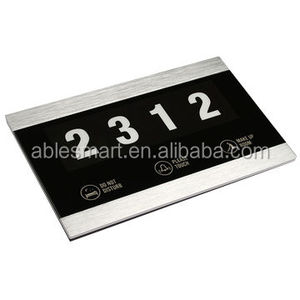 ABLE Touch screen hotel electronic doorplate with Do Not Disturb doorbell/room number