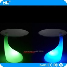 Night club party lighting LED glowing cocktail table