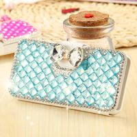 Full Body Glitter Diamond Mobile Phone Case For iPhone 5S 5 5G Stand Flip Magnetic Wallet Cover Bag Card Holder For iPhone 5S 5