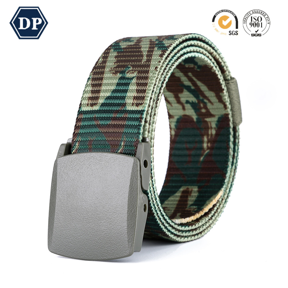DP8207C-6 multi-color fabric braided double face elastic strench belt with pin buckle