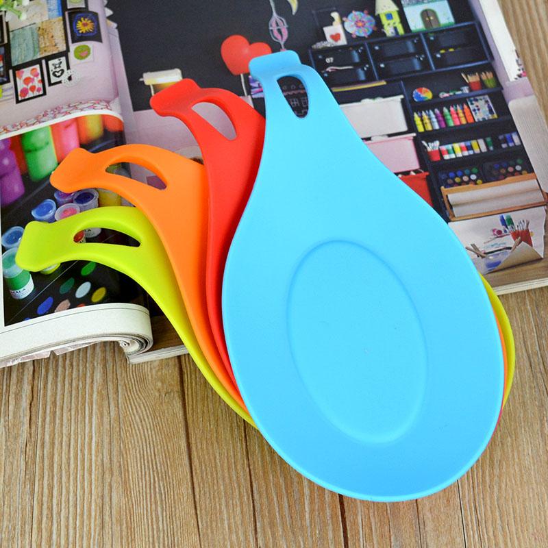 Food Grade Silicone Mat Tool Heat Resistant Kitchen Spoon Pad