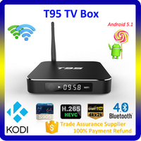 Amlogic s905 tv box with android 5.1 aml S905 CPU 4K output Kodi 16.0 arabic iptv