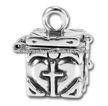 Fashion Cross Prayer Box Charm Jewelry