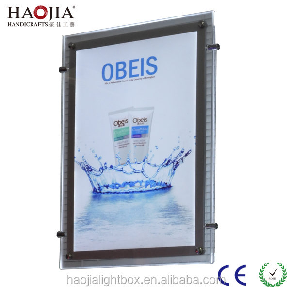 A2 size acrylic made double side crystal led light box indoor advertising display