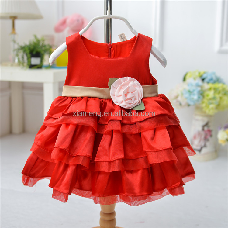 New design red sleeveless cupcake frocks of different styles