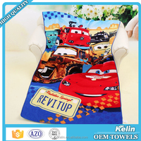 Best quality promotional custom horse printed beach towel
