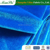 Best selling 95% polyester 5% spandex velvet fabric roll made in China