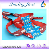 Free Sample RFID Wristband Woven, NFC Wristbands Events, RFID Wristband Festival Sample