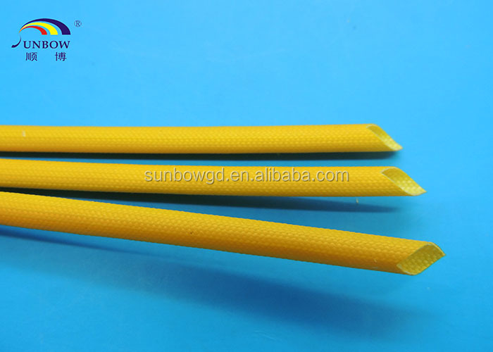 UL approval Silicone Rubber Fiberglass Sleeving for Cable Line Protecting