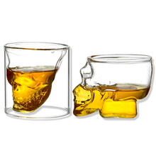 Special design whisky shot skull glass cup